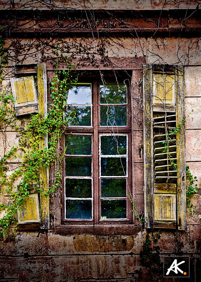 old yellow window